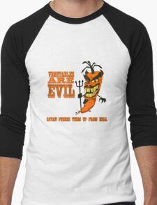 Vegetables are PURE EVIL! Men's Baseball ¾ T-Shirt