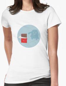 Nasty cheeky choc Womens Fitted T-Shirt