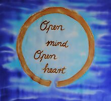 Open Mind Open Heart on Silk by FionaStolze
