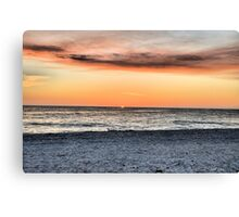 SunSet On The Gulf (HDR) Canvas Print
