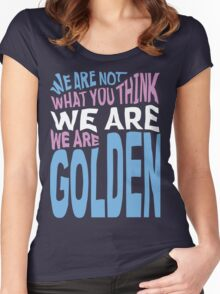 We Are Golden - Trans Women's Fitted Scoop T-Shirt