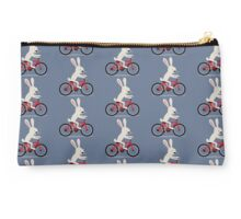 Bunny riding bike Studio Pouch