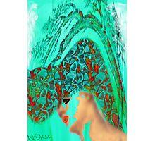 face-Bird woman Photographic Print