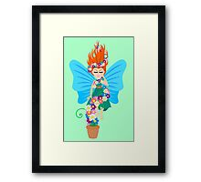 Floating in Flowers Framed Print