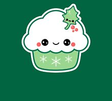 Cute Christmas Cupcake Womens Fitted T-Shirt