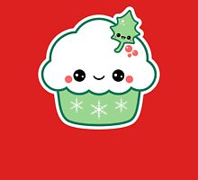 Cute Christmas Cupcake Womens T-Shirt