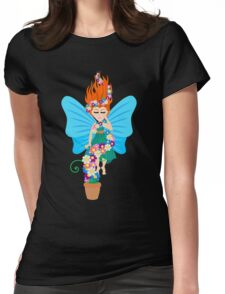 Floating in Flowers Womens Fitted T-Shirt