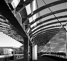 Bells Bridge BW by Glaspark