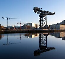Finnieston cranes reflections by Glaspark