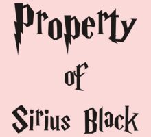 Property of Sirius Black by xTamara
