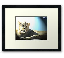 wild animals Framed Print