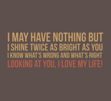 I shine twice as bright as you by gabisalazar