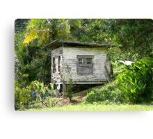 Wooden House At Brasso Seco, Trinidad. Canvas Print