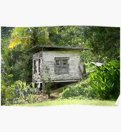 Wooden House At Brasso Seco, Trinidad. Poster