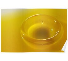 Faling Droplet into oil surface Poster