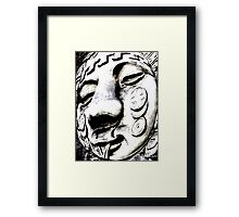 face-may you be happy Framed Print
