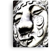 face-may you be happy Canvas Print