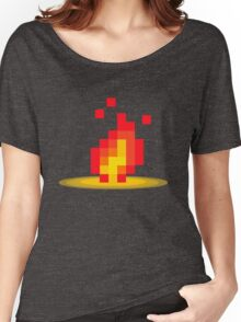 Flame pixel Women's Relaxed Fit T-Shirt