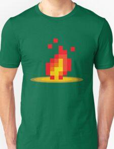 Flame pixel Unisex T-Shirt