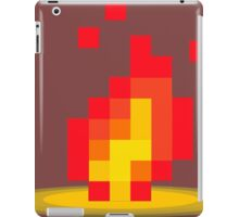 Flame pixel iPad Case/Skin