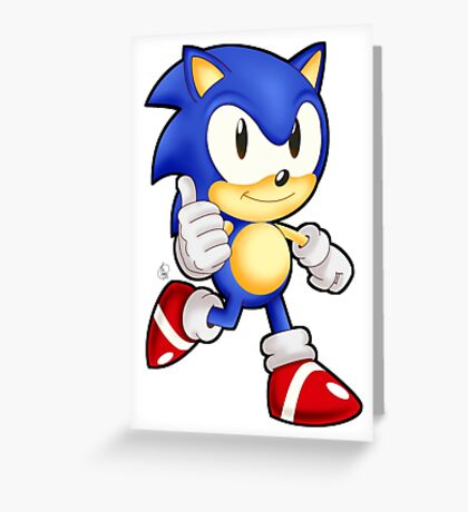 Classic Sonic the Hedgehog Greeting Card