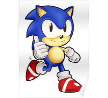 Classic Sonic the Hedgehog Poster