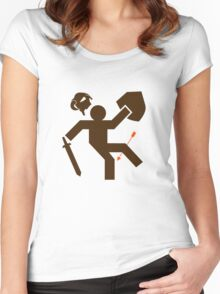 Arrow to the Knee - Sticker Women's Fitted Scoop T-Shirt