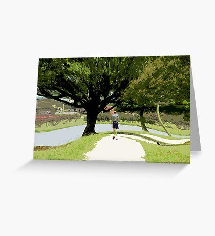 Nature-long walk Greeting Card