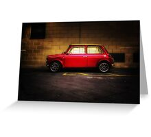 Wee Red Mini Cooper Greeting Card