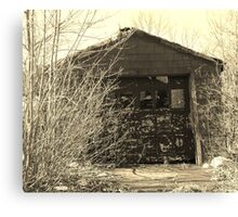 Abandoned Garage  Canvas Print
