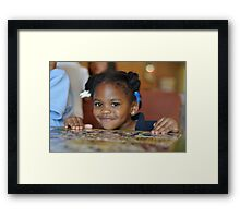 Girl's Chin & a Smile RO Framed Print