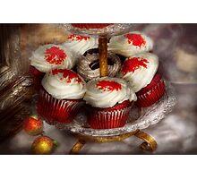 Sweet - Cupcake - Red velvet cupcakes  Photographic Print