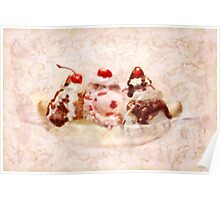 Sweet - Ice Cream - Banana split Poster
