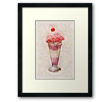 Sweet - Ice Cream - Ice Cream Float  Framed Print