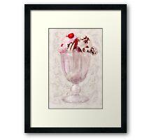 Sweet - Ice Cream - Ice cream sundae Framed Print