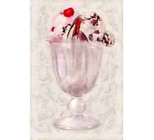 Sweet - Ice Cream - Ice cream sundae Photographic Print