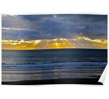 Surfing at Raglan Poster