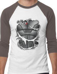 N7 Armor Men's Baseball ¾ T-Shirt