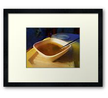 Simple Supper Framed Print