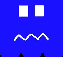 Pac-Man Ghost iphone running scared by Margaret Bryant