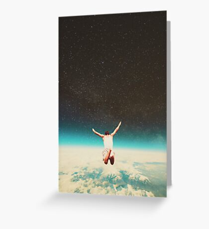 Falling with a hidden smile Greeting Card