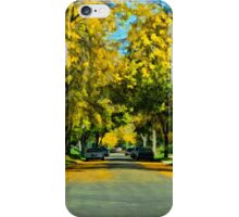 Neighborhood in Autumn iPhone Case/Skin