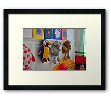 toys on the wall Framed Print