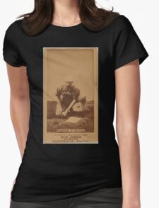Benjamin K Edwards Collection C Hoover Chicago White Stockings baseball card portrait Womens Fitted T-Shirt