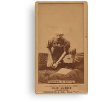 Benjamin K Edwards Collection C Hoover Chicago White Stockings baseball card portrait Canvas Print
