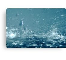 Close-up of splashing water Canvas Print