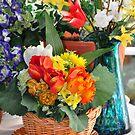 home flowers in the corner by Daidalos