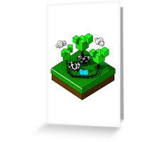 Isometric island frame - Cow Greeting Card