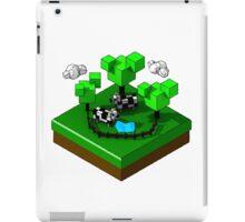 Isometric island frame - Cow iPad Case/Skin