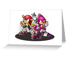 Mighty and Espio Ready for Battle Greeting Card